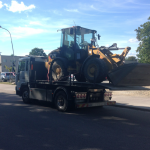 Maskintransport av traktor genomförd av Jonssonbolagen
