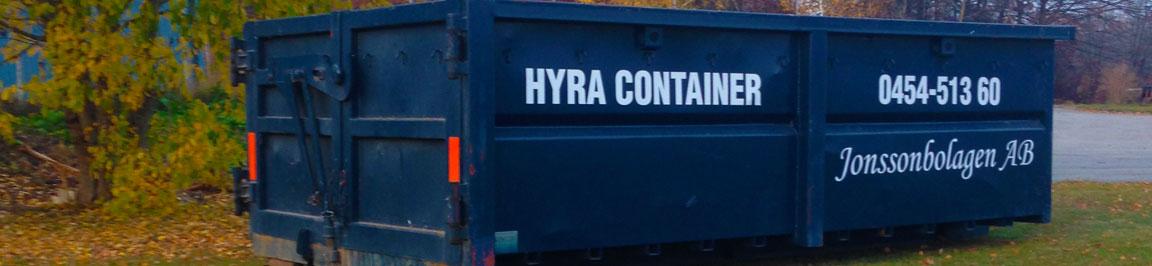 Hyra container hos oss i blekinge, Jonsoonbolagen AB